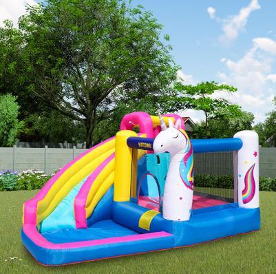 unicorn inflatable bounce house castle water slide