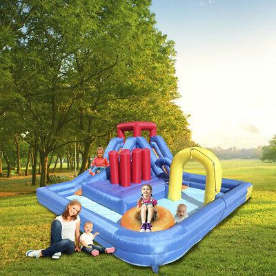 New Inflatable Water Slide Bouncer Kids Play House Fun Jumpe