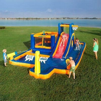 water park inflatable games water slide bounce