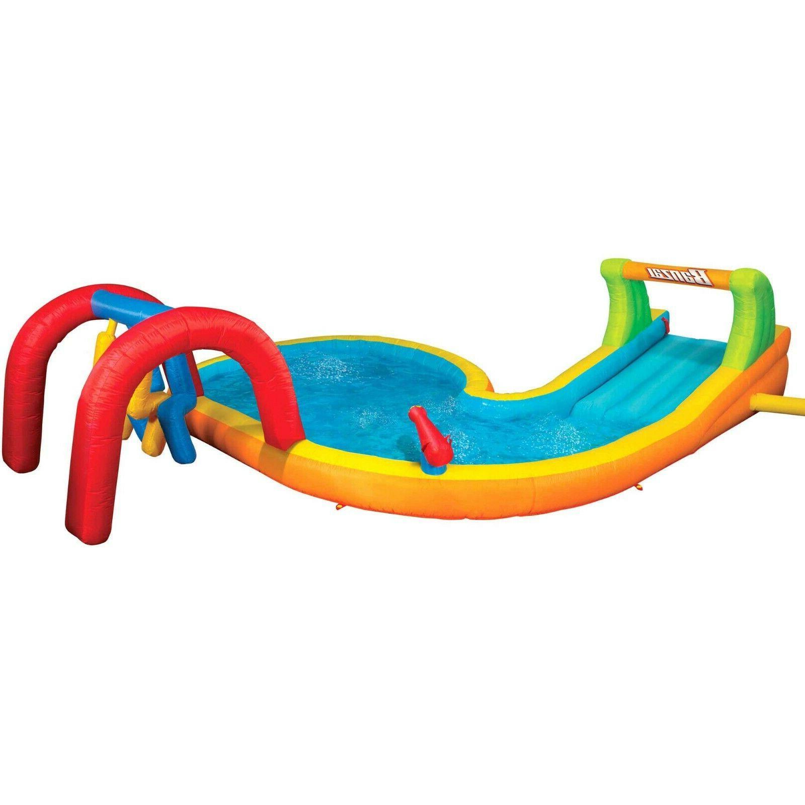 Banzai Water Zone Inflatable Summer Backyard Splash Pool