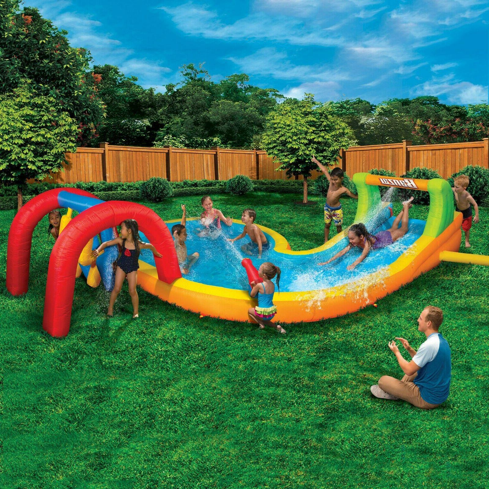 water park splash zone inflatable water slide