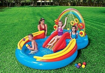 Water Play Set Slide Bounce Backyard Kid