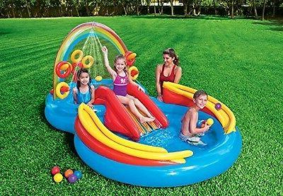 Water Play Inflatable Slide Bounce Pool Outdoor Backyard Toys