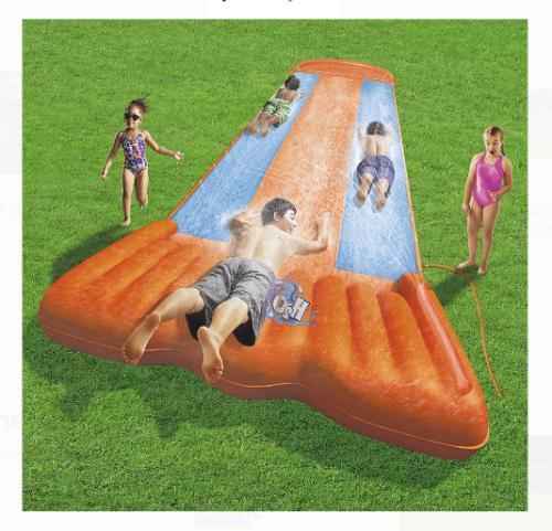 Water Slide Triple Kids Slip Slide Play