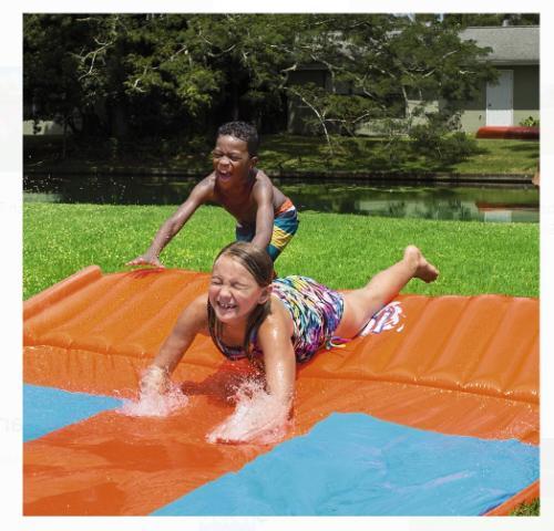 Water Slide Triple Inflatable Kids Toy Slip N Slide Play
