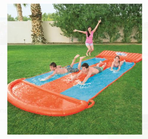 Water Slide Triple Inflatable Kids Play