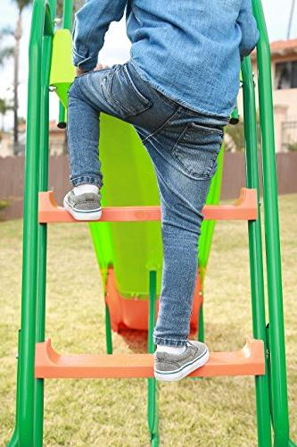 SLIDEWHIZZER Outdoor Playground Playset and Rider Children. Entertainment Play Set. Playing. Exceedingly for