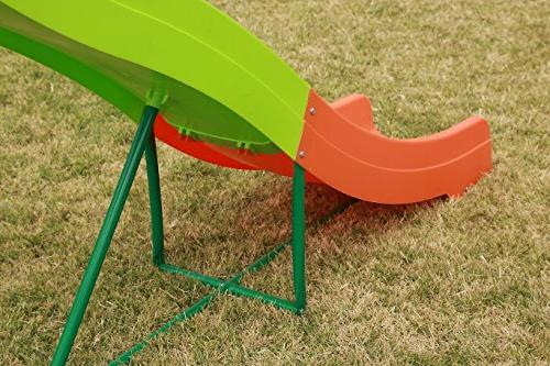 SLIDEWHIZZER Outdoor Playground Slide; 8-FT Freestanding Playset Children. Play Playing. Safe. for