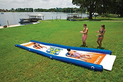 WoW Slide, Backyard High Side 25 x 6 Feet, Hand Pump