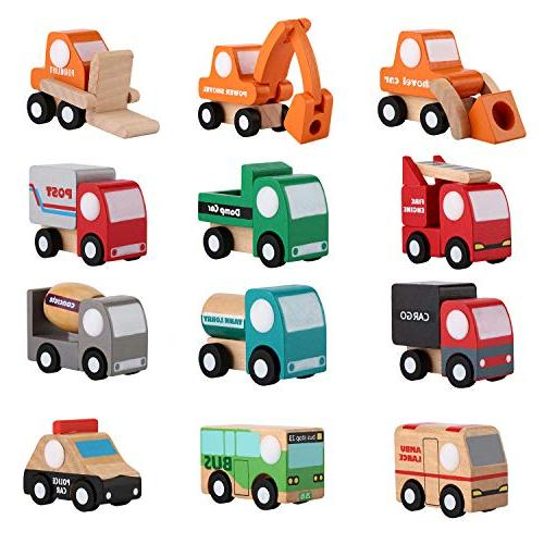 wooden toy cars set
