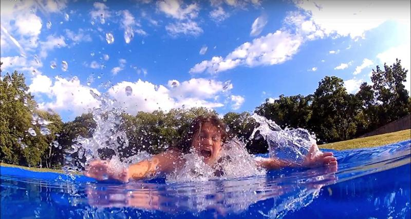 World's Biggest Backyard Lawn Water Slide Block Parties Summer Camps