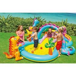 Large Dinoland Dinosaur Inflatable Swim Play Center Kiddie I