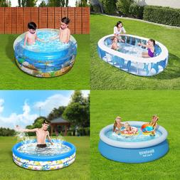 Large Inflatable Swimming Pool Center Lounge Family Kids Wat
