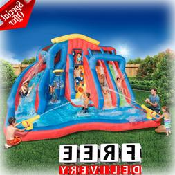 Large Water Slide Splash Lagoon Inflatable House Commercial
