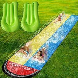 SOARRUCY Lawn Water Slides for Kids Adults - Garden Backyard
