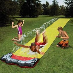 Lawn Water Slides, Slip and Slide Crash pad and Central Spra