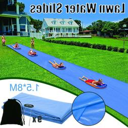 Lawn Water Slip Slide Big Waterslide Backyard Waterslide For