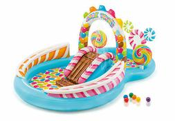 Intex Inflatable Kids Candy Zone Water Play Center Swimming