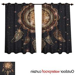 Anshesix Mandala Outdoor Curtains for Patio Sheer Native Ame