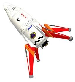 SEMROC MARS LANDER Flying Model Rocket Kit - KV-54 - Skill L