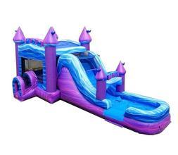 mega purple commercial inflatable big water slide
