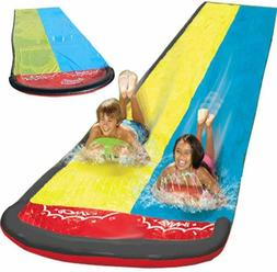 N/Y 15Ft Double Water Slide Inflatable, Lawn Water Slip and
