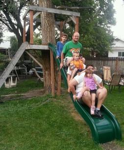 NEW 12 foot Fiberglass playground slide 6 foot deck height w