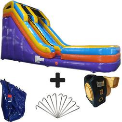 NEW 17ft High Blue & Purple Commercial Inflatable Bounce Hou