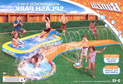 New Banzai 3-in-1 Aqua Water Drench Splash Park w/ Water Sli