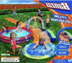 NEW BANZAI Cyclone Splash Park Inflatable with Sprinkling Sl