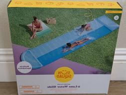 NEW Sun Squad™ Double Water Slide - 2 Lane Slip & Slide St