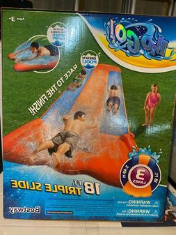 NEW H20 Go Triple Slip N Slide Aqua Ramp Drench Pool 18 Feet