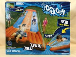 NEW H20 Go Triple Slip N Slide Aqua Ramp Drench Pool 18 Feet