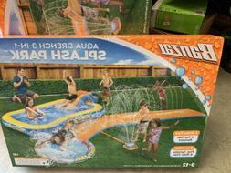 NEW Banzai Inflatable Aqua Drench 3-in-1 Splash Park Sprinkl
