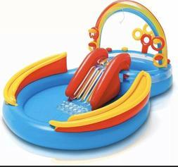 NEW INTEX Inflatable Kid Rainbow Ring Children's Water Pla