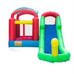 New Inflatable Moonwalk Water Slide Pool Bounce House Jumper