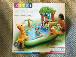 NEW❗️Intex Jungle Inflatable Pool Play Center Slide Spra