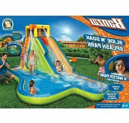 NEW MODEL Banzai Slide N Soak Splash Park Inflatable Outdoor