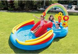 NEW Intex Pool Rainbow Ring Inflatable Play Center Ages 2+ K