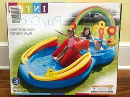New Intex Rainbow Ring Inflatable Play Center Pool Water Sli