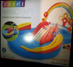 NEW INTEX Rainbow Ring Play Center Kids Inflatable Pool Wate