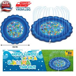 "NEW Sprinkler&Splash Play Mat Learning,68""Outdoor Water To"