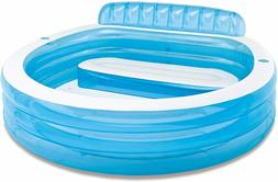 "NEW Intex Swim Center Inflatable Family Lounge Pool, 90"" X 8"