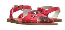 NEW YOUTH GIRLS WOMEN SALT WATER CLASSIC SANDAL RED LEATHER