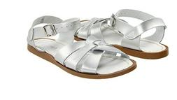 NEW YOUTH GIRLS WOMEN SALT WATER CLASSIC SILVER SANDAL  LEAT