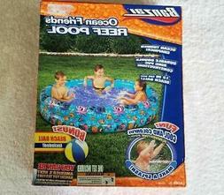 Banzai Ocean Friends Reef Pool with Bonus Beach Ball - New /