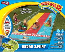 Outdoor Water Toy Slip N Slide 3 Lane Racer Vinyl Backyard P