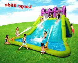 Huge Water Slide Park For Kids Toddler Inflatable Splash Poo