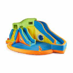 Banzai Pipeline Twist Inflatable Water Park Pool with Slides