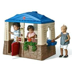 Step2 Playhouse Neat Tidy Cottage Kids Pretend Play Blue Out